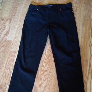 Zac & Rachel Black straight leg pants, size 14